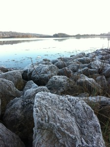 Frosty rocks