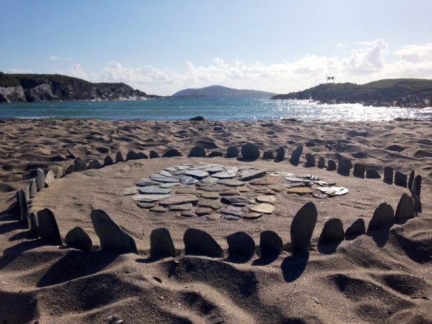 Sherkin Island art on beach