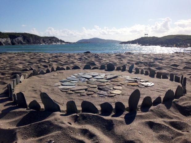 Sherkin Island art on beach