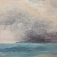 From Silver to Clear Bernadette Burns small. Oil on canvas