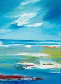 Sherkin Sea Majella O'Neill Collins. small.Oil on canvas